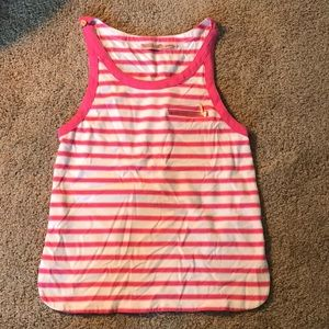 Pink, orange, white Juicy Couture striped tank top